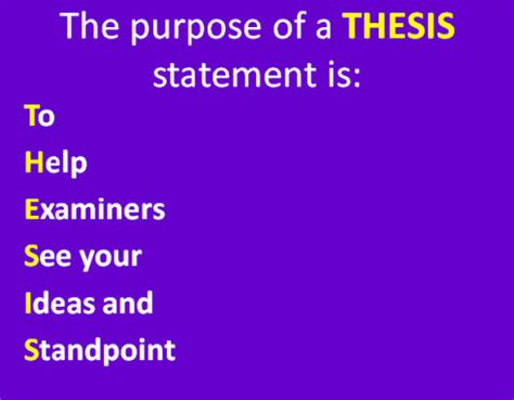 What is the purpose of thesis statement in essay writing